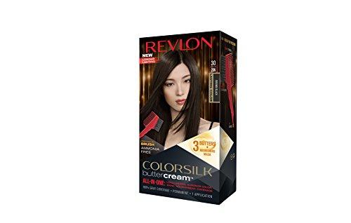 Revlon Colorsilk Buttercream Hair Dye, Brown Black, Pack of 1