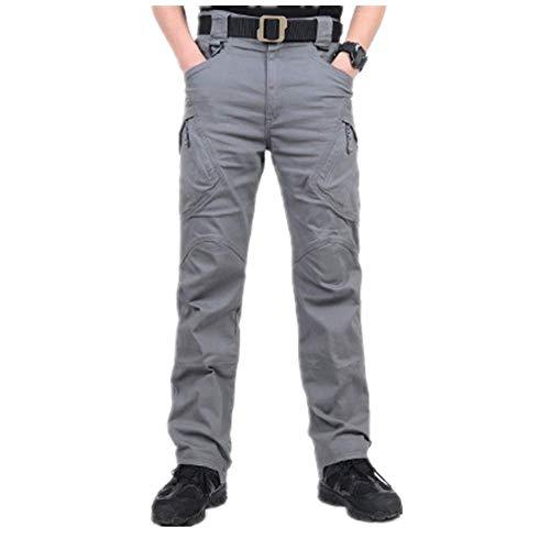 Loeay Pantaloni da Combattimento da Uomo City Pantaloni Cargo Tattici Militari Pantaloni da Esercito SWAT Pantaloni da Trekking Outdoor Elasticizzati Multitasche Casual XL Grigio