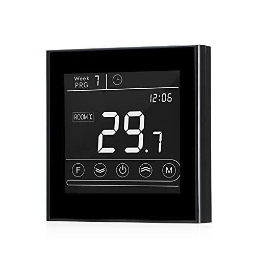 Termostato Wifi inteligente, controlador de temperatura de caldera de gas programable Pantalla LED Pantalla táctil Control remoto retroiluminado Función anticongelante