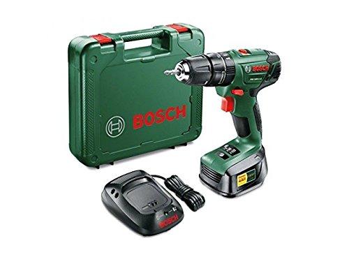 Bosch Power 4 all 18V 1.5Ah Li-ion Soft Grip Forward & Reverse Rotation Trigger Switch Cordless Combi Drill 1 Battery PSB 1800 Li-2