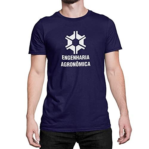 Camiseta Estampada Engenharia Agronômica Camisa Masculino Azul Tamanho:G