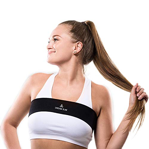 DREAM SLIM No-Bounce High-Impact Breast Support Band Extra Sports Bras for Women Adjustable Straps (Black Large)