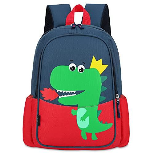 lilibaby Mochila Infantil para Niños de Dibujos Animados Lindo Dinosaurio Mochila Escolar Niños Jardín de Infantes Mochila para Estudiantes de 5-8 años