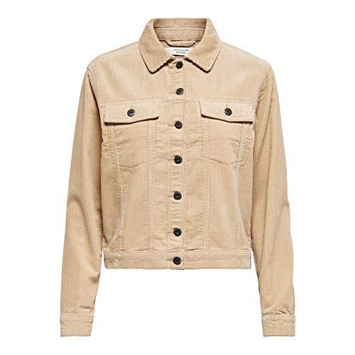 JdY Damen JDYKIRAZ Corduroy Jacket PNT NOOS Jacke, Nomad, 40