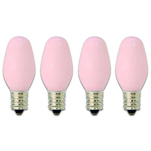 GE Lighting 26222 4-Watt 14-Lumen C7 Night Light Bulb, Pink (4 Pack)
