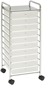 Seville Classics Large 10-Drawer Multipurpose Storage Organizer Cart