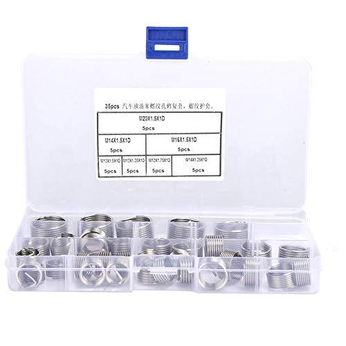 Kit de inserción de reparación de hilos, tuercas roscadas Equipo de separación de aire de aleación de zinc de acero inoxidable Mantenimiento de voltaje de acero inoxidable