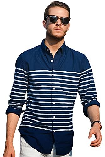Zombom Men's Regular Fit Pure Cotton Casual Shirt