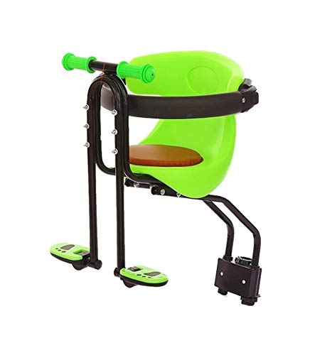 LYATW Bicicleta asiento for niños, bicicletas asientos infantiles, asientos de seguridad for bicicletas asiento de seguridad for niños Carrier frontal con el amortiguador de los apoyabrazos de una sil