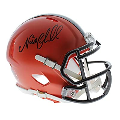 Nick Chubb Autographed Signed Cleveland Browns Mini Helmets - JSA Certified Authentic