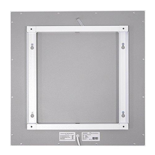 VASNER Citara Infrarotheizung 450 Watt Carbon 60×60 cm weiß Metall  Decke – Wand-Montage Bild 4*