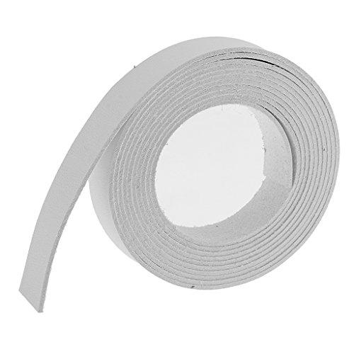 MagiDeal 2 Meter Lang DIY PU- Lederband Lederriemen Flach Bänder Streifen 15mm Farbe Auswahl -...