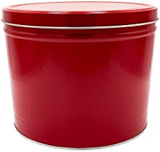 2 Gallon Popcorn Tin - Butter, Cheddar and Caramel (Red)