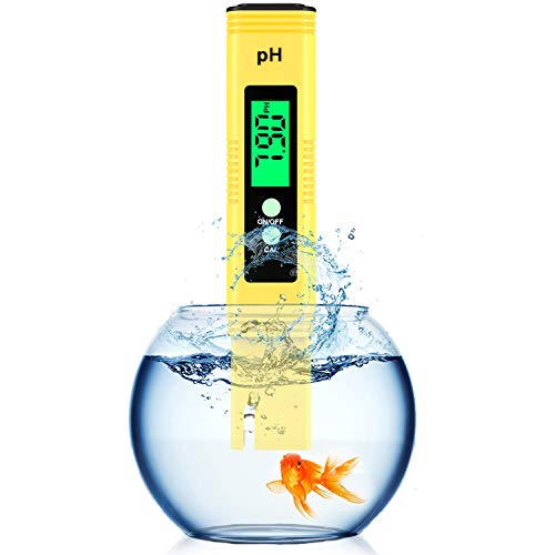 Digital PH Meter,Backlight PH Meter 0.01 High Precision Water Quality Tester, PH Range is 0-14, Suitable for Drinking Water Swimming Pool and Aquarium PH Tester Design, with ATC
