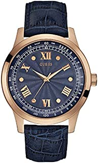Guess Dress Watch for Men, Stainless Steel Case, Blue Dial, Analog -W0662G4