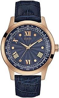 ساعة جيس الرسمية للرجال هيكل من الستانلس ستيل مينا ازرق عرض انالوج -W0662G4