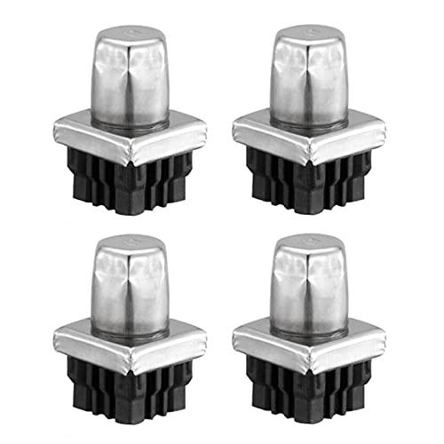 XHNXHN Pies de soporte de repuesto ajustables de metal en línea para patas de cocina/gabinete/mesas/banco de trabajo/unidad superior, base de nivelación de bricolaje
