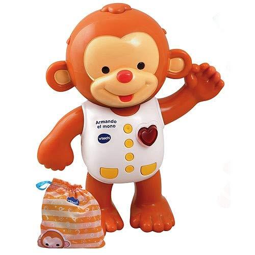 VTech - Armando el mono, Monito interactivo para aprender a vestirlo, enseña...