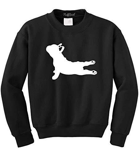 NuffSaid Yoga French Bulldog – Crewneck Sweatshirt Pullover – Unisex Crew – Namaste Dog