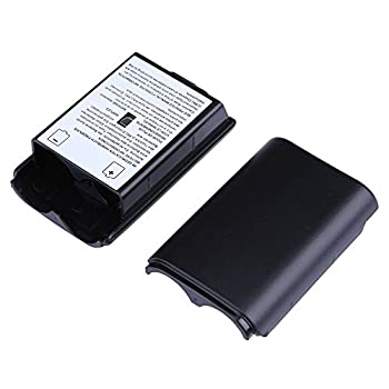 2X Black Battery Pack Cover Shell Case Kit for Xbox 360 Wireless Controller  Black