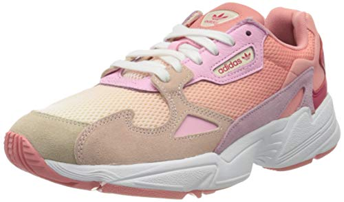 adidas Falcon W, Zapatillas de Gimnasio Mujer, Ecru Tint S18/Icey Pink F17/True Pink, 36 EU
