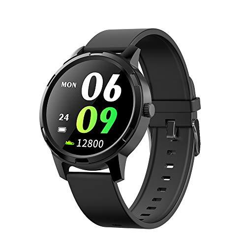 Kolaura Smartwatch, 1,3-Zoll-Touchscreen-Fitness-Tracker mit Herzfrequenzmesser Schrittzähler Stoppuhr Schlafmonitor, Fitness-Armbanduhr für IOS Andriod(Updated Version)