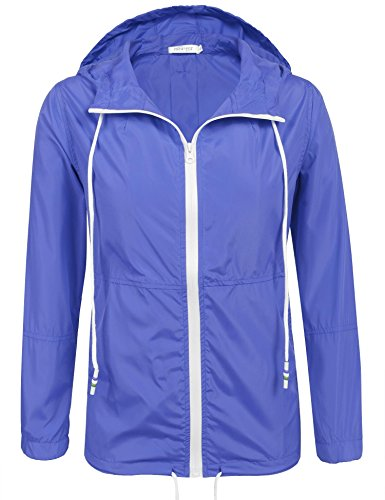 Unibelle dames regenjas lichte korte jas windbreaker jas regenjas overgangsjas met capuchon winddicht S-XXL