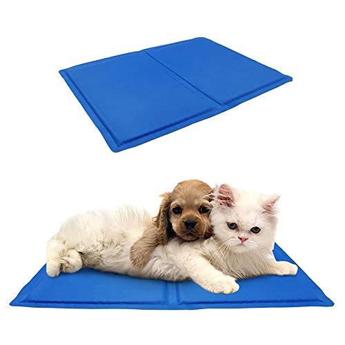 KDDD Alfombrilla De Refrigeración Animales Nevera Y Manta para Perro Fresco Cojín Azul Techo Camas Suelo Couch Auto Refrescante Enfriador Mascotas para Suelo Cojines GrandesXS