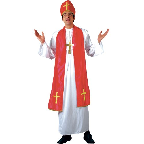 HOLY CARDINAL - MONK ADULT COSTUME FANCY DRESS UP PARTY