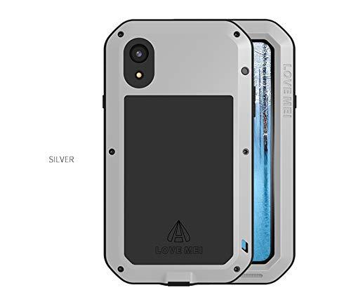 Carcasa para iPhone XR, Love Mei, a prueba de golpes, polvo y polvo, de aluminio, resistente a la nieve, para iPhone XR (6,1 pulgadas)