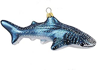 Whale Shark Ocean Sealife Polish Glass Christmas Ornament