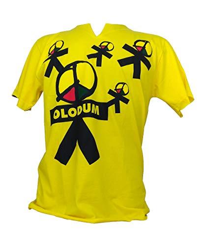 Camiseta Olodum Boneco Bumbo Gola V Amarelo P