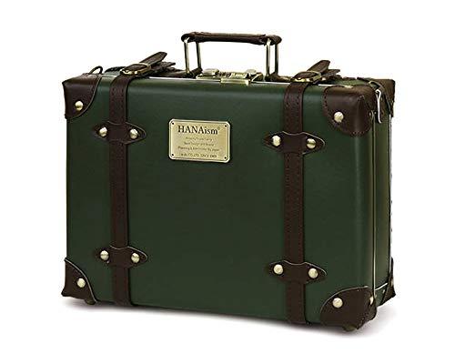 HANAism トランク(NN-SQ)人気 ミニトランク ボックス キャリーケース かわいい SQUARE ハナイズム カメラトランクケース インテリア レトロ アンティーク ダイヤルロック (2/グリーン(Green))