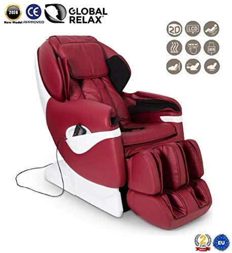 SAMSARA® Massagestoel 2D - Rood (model 2020) - Elektrische ontspanningsbank met shiatsu - Pressotherapiestoel, nul zwaartekracht, warmte en USB - 2 Jaar Garantie