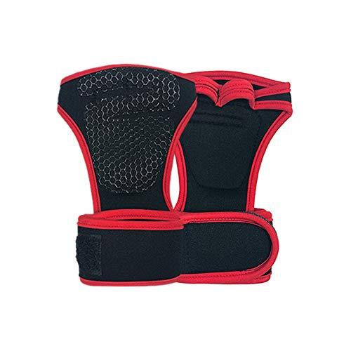 WXH Palm Support/Thumb Sleeve Weightlifting Handschuhe Adjustable Compression Strap mit elastischer und atemberaubender Fabrik für Tendonitis Sports Bowling Boxing,Red,XL