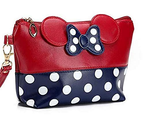 Aplogize Mignon Mickey Bow Dot PU Cosmetic Bag Clutch