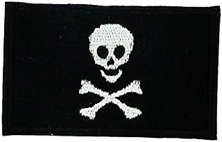 Akachafactory broderad lappar patch Rackham Jolly Roger Pirat Jack, cyklist motorcykelförare