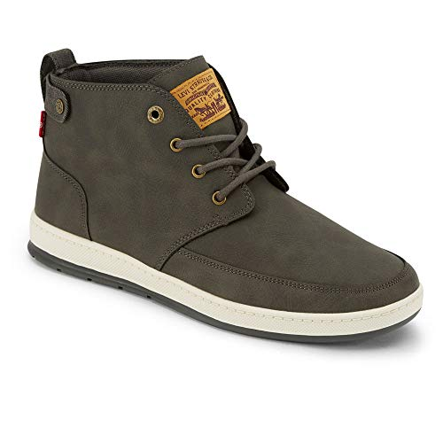 Levi's Mens Atwater Waxed UL NB Casual Sneaker Boot, Charcoal, 8.5 M