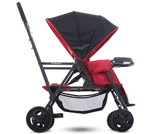 Best Double Tandem Baby Strollers, Seat Adapter, Umbrella, Travel System Ready for Infants, Toddlers and Kids, JPMA Certified, Red Color, with Free Awesome Hooks!
