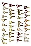 Relax Kopyto Set 39 x Doppelschwanz Twister - 4,5cm in 13 fängigen Farben für Forelle u. Barsch Gummifisch Angeln (39 Stück BUNT)