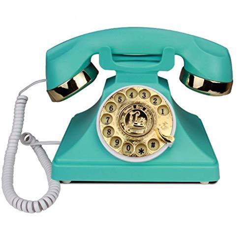 SXRDZ Tarjeta de Inicio de la Oficina del Hotel Creativo de la antigüedad de la antigüedad de la antigüedad de la antigüedad de la antigüedad del Hotel Viejo Retro del teléfono Fijo V (Color: Rosa)