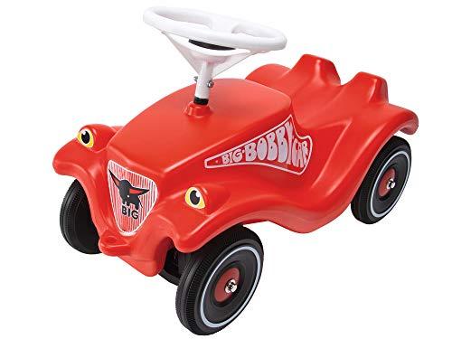 BIG-Bobby-Car Classic - Kinderfahrzeug für Jungen und Mädchen, klassisches Rutschfahrzeug belastbar bis 50 kg, für Kinder ab 1 Jahr, rot