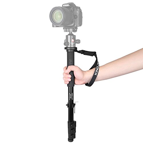 "Papaler MP208F Camera Monopod Alpenstock, 52""/133cm Aluminum Flip Lock Video Monopod for Camera with 1/4""&3/8"" Convertible Screw for DSLR Cameras Camcorder Ballhead Canon Nikon Sony Max Load 17.6 lbs"
