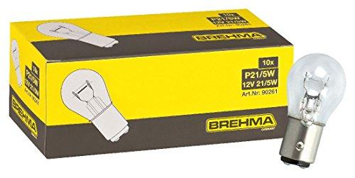 BREHMA 10x P21/5W Kugellampe Bremslichtlampe Nebelschlusslampe Rückfahrlicht Tagfahrlicht