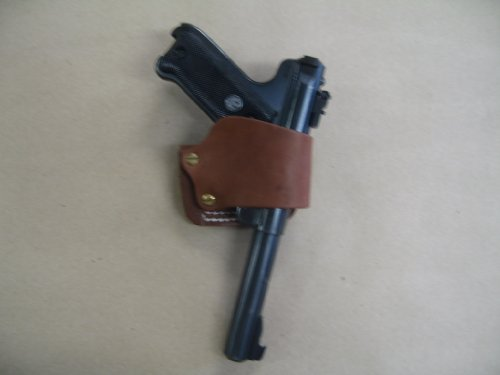 Ruger Mark II, III Leather Belt Slide Holster Tan...