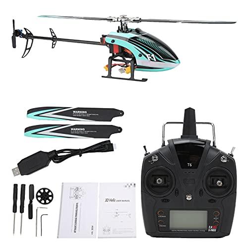 Helicóptero de 6 Canales, F1 3D/6G 3D Stunt Helicopter Helicóptero de 6 Canales Metal Servo Digital RC Modelo de avión