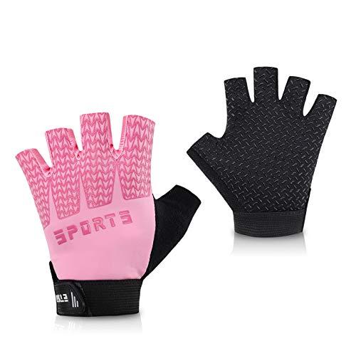 Accmor Kids Sport Gloves, Kids Half Finger Gloves, Kids Cycling Gloves, Kids Fishing Gloves for Cycling Camping Fishing Outdoor Sports