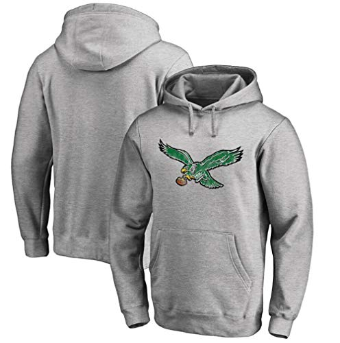 FMSports Men's Hoodies - Philadelphia Eagles NFL Football Team Uniform Pullover Hoodies,Long Sleeve 3D Logo Digital Print Sweatshirt,XXL~180~190CM