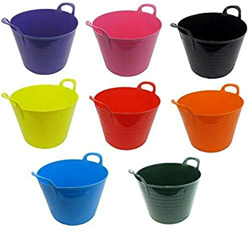 KetoPlastics Set Of 3 - 26L Litre Strong Flexi Gorilla Tubs Trugs Laundry /...