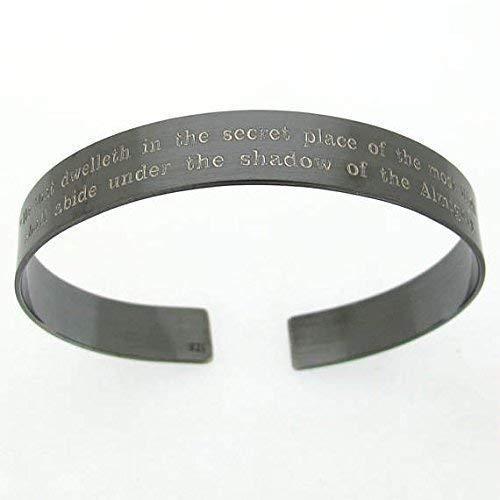 KIA Bracelet - Personalized Military Bracelet- Black Cuff - Veterans gift - In Loving Memory Remembrance Bracelet - Custom Black Cuff for Men - Mens Jewelry - Father Day Gift